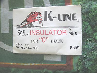 "K-Line Train Track  Insulator Pins One Dozen For ""o"" Track  K-391 /////  Nos"