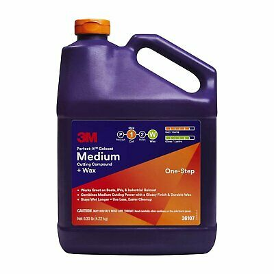 3M Perfect-It Gelcoat Medium Cutting Compound + Wax Quart 3.7L 36107