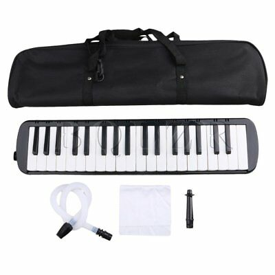 Black BQLZR 37 Piano Keys Melodica Pianica W/ Easy Carrying Bag for Students