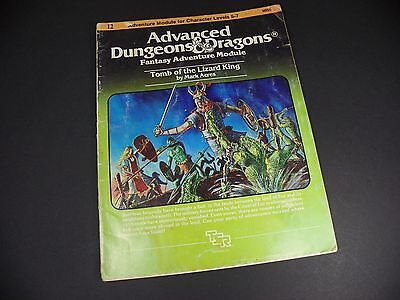 Vintage Dungeons & Dragons Adventure Module I2 Tomb of The Lizard King