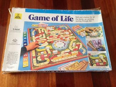 GAME OF LIFE Board Game Vintage Retro MB MILTON BRADLEY Age 8-Adult 1970's 1978
