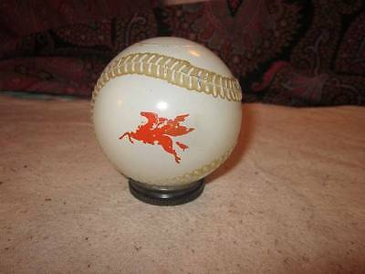 Antique Glass Bank Gas Oil Mobil Baseball Shape Pegasus Horse