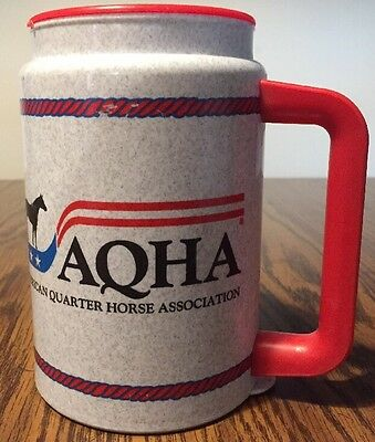 Vintage American Quarter Horse Association Whirley Thermal Cup + Lid Rare
