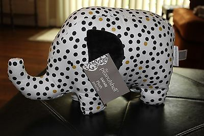 Nursery crib bedding - Plush ELEPHANT The Peanutshell Safari black/white NWT $22