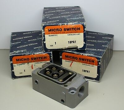 3 New Honeywell/Micro Switch # 18PA1 Terminal Blocks for Plug-in-Limit Switches