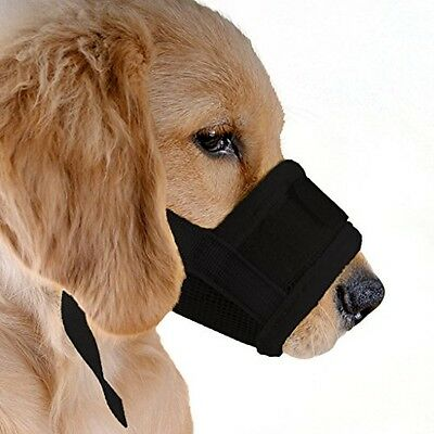 UBEST Dog Muzzle Soft Prevent Biting Chewing Black Medium