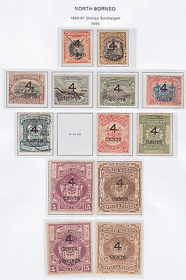 North Borneo 1899 surcharges on 1894-7 Mint