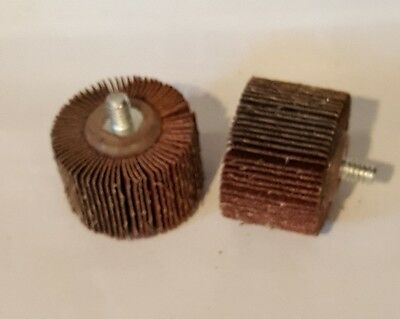 Aluminum oxide Flap wheels 1-1/2 x 1 x 1/4-20, grit A80, 10/box