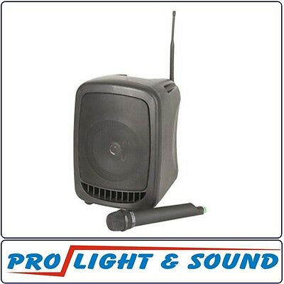 PA Speaker System with Wireless Microphone, Rechargeable Battery, 165mm Speaker