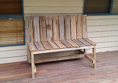 Outdoor Bench Garden 135Cm Recycled Timber Rustic