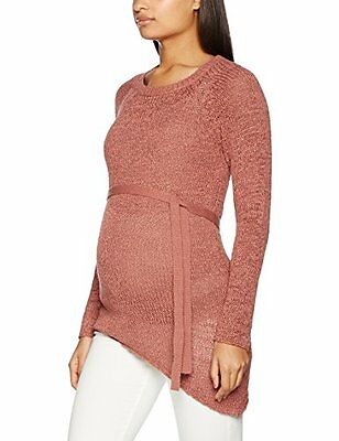 MAMALICIOUS MLCURRY L/S KNIT BLOUSE, Pullover Donna, Rosa (Cedar Wood), 40 (Tag