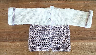 Handmade 100% Wool Children's Girls Knitted Jacket