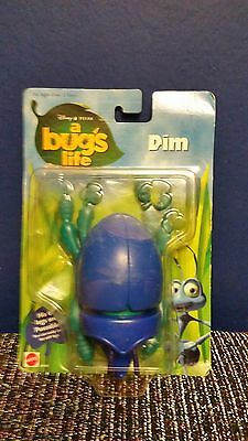 dim a bugs life disney pixar 6 poseable legs mattel CARD BUBBLE POOR