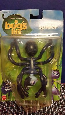 spider a bugs life 8 legs poseable! CARD/BUBBLE POOR CONDITION DISNEY PIXAR