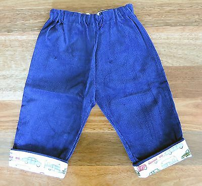 Boy's Blue Cotton Corduroy Pants