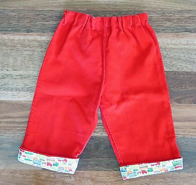 Boy's Red Cotton Coduroy Pants