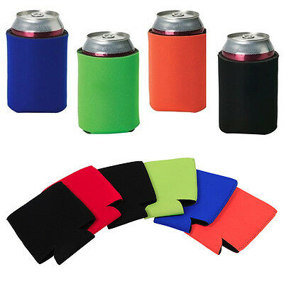 12PCS Neoprene 12ounce Beer Soda Can Insulator Cooler Stubby Holder Solid Color