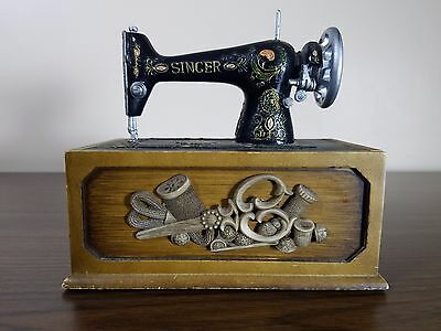 Vintage Mini Singer Sewing Machine Collector Storage Box