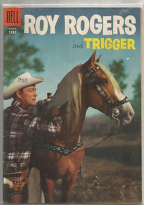 Roy Rogers & Trigger #92 Dell 1955 Golden Age TV Western Comic Book FN/FN+