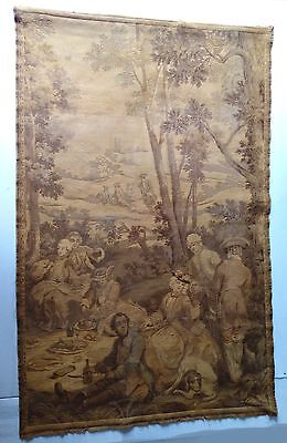 vintage French tapestry classical  scene of the 17th century,hang on the wall