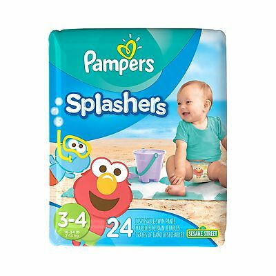 Pampers Splashers Disposable Swim Pants Size 3-4 24 Count Size 3-4, 24 count