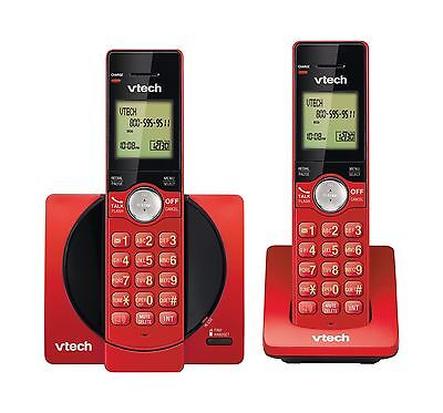 VTech DECT 6.0 Dual Handset Cordless Phones with CID Backlit Keypads and Scre...