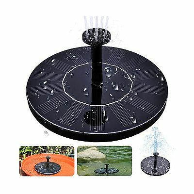 Solar Bird Bath Fountain Free Standing 1.4W Solar Panel Kit Water Pump