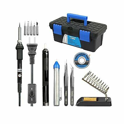 Pasaone Soldering Iron Kit 60W Adjustable Temperature Controlled Welding Tool...