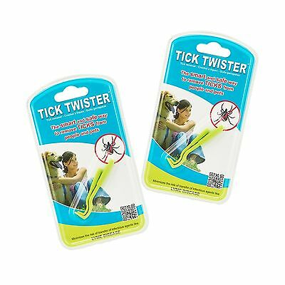 Tick Twister Tick Remover Set with Small and Large (Pack of 2 Sets) Two Sets