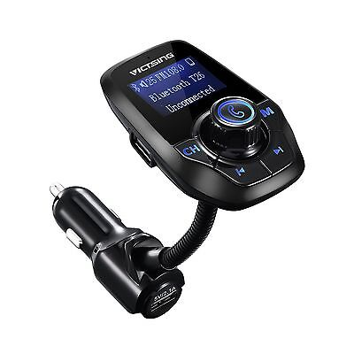 VicTsing T26 Bluetooth FM Transmitter Wireless Car Kit for Hands-free Calling...