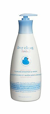 Live Clean Baby Shampoo and Wash Gentle Moisture 750 Milliliters