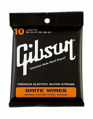 Gibson Gear Brite Wires Electric Guitar Strings Light (10-46) Single