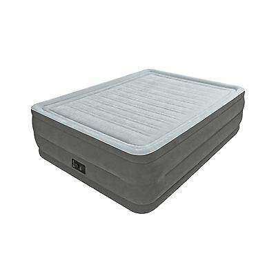 "Intex Comfort Plush Elevated Dura-Beam Airbed Bed Height 22"" Queen"