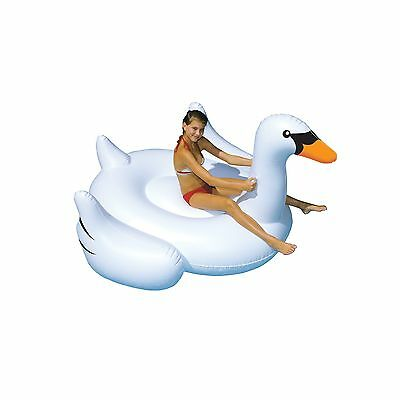 Swimline Giant Swan 75-Inch Inflatable Ride-On Pool Toy