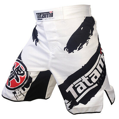 MMA Kick Boxing Black & White Ink Training Muay Thai Shorts Trunk Sports Cotton