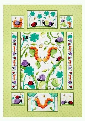 Susybee Leif The Caterpillar  Quilt Panel * Cute * In Stock * Free Post * 🐛