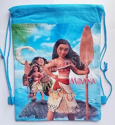 Moana Drawsting Bag. Library Bag Back 2 School Or Stocking Fillers