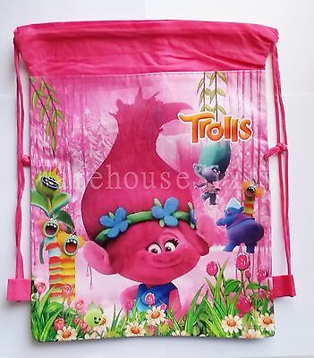 Trolls Poppy Drawsting Bag. Library Bag Back 2 School Or Stocking Fillers