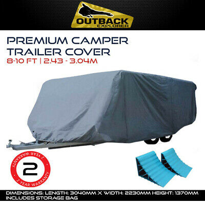 Outback Explorer 8-10 ft Premium Camper Trailer Cover 2.43 -  3.04m FREE CHOCKS