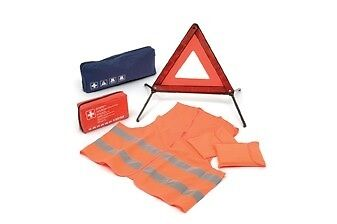 Vw Emergency Warning Triangle High Visibility Vest First Aid Kit - Genuine Vw