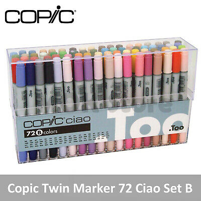 Copic Marker 72 Piece Ciao Set B (Twin Tipped) - Artist Markers Anime Comic