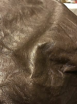 3.2 Sq Ft Brown Perforated Genuine Leather Skin / Hide