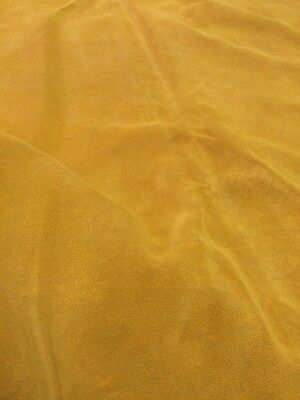 15.5 Ft Quality Genuine Golden Suede Skin / Hide, Genuine Leather