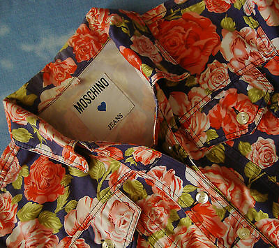 JACKET bluse woman vintage  MOSCHINO jeans made in Italy TG.44 circa M    Rare