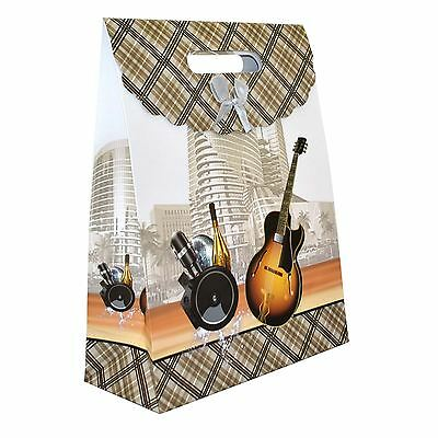 1 x Gift Bags -Guitar for Man -Classic Luxurious Christmas Gift Bags