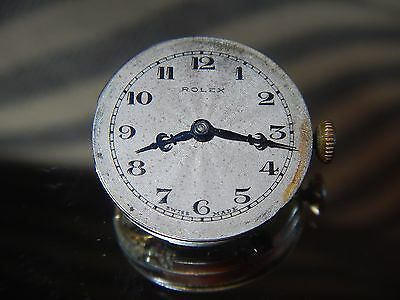 Rare ROLEX Watch Movement Vintage 1920's Standard Quality 15 Rubies  Hands Dial