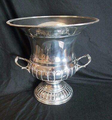 Superb Silver on Copper urn shaped double handled Champagne bucket with liner-C