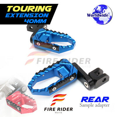 For Yamaha MT-09 Tracer 15-17 15 16 17 40mm Riser BU CNC Touring Rear Footpegs