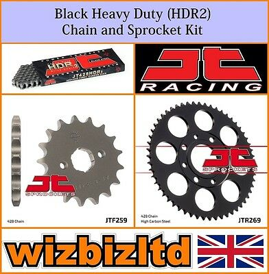 JT Black Heavy Duty Chain & Sprocket Kit Honda CG125 Brazil 1993-98 KITJT18VK