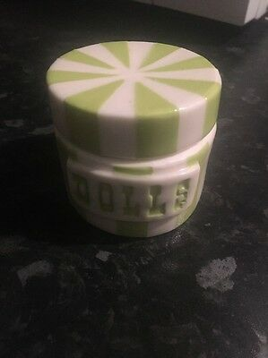 Jonathan Adler Vice Collection Green Dolls Canister